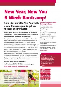 New Year New You Bootcamp Flyer